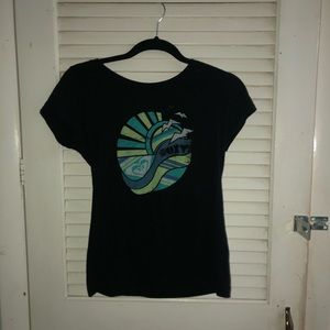 Roxy short sleeved tee shirt size small
